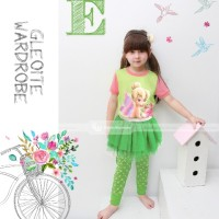 Piyama Tutu Dress Gw-123 E: Tinkerbell (2-7 Tahun)