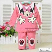 Baju Tidur Piyama Anak - Setelan Anak Cewek Perempuan Girl -Mini Mouse