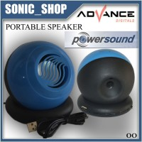 Speaker Portable Advance A30 - Biru Suara Mantap