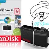 Jual Sandisk Ultra Dual OTG Flashdisk / Flash Disk USB 3.0 Bergaransi 32 GB Murah