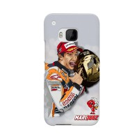 Marc Marquez Foto Cartoon HTC One M9 Custom Cover Hard Case