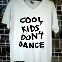 kaos Vneck cool kids dont dance 1D tshirt distro custom clothing