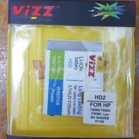 Baterai vizz HTC HD2 T8585/T8588/T9298/Leo BA S400 dll 2100mAh