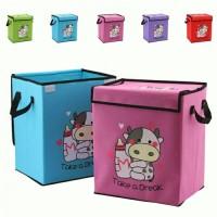 Colored Cow Storage Box colour warna tempat pakaian mainan motif sapi