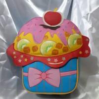 harga Tas ransel anak bentuk cake - Little V 43105 Tokopedia.com