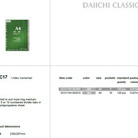 Index - Daiichi Classic Series - A4 Monthly (Each)