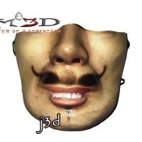 "MASKER 3D ""BONENG KUMIS HALF FACE"" BY MO3D BISA DICUCI"