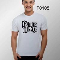 T0105 - KAOS GAME MUSIK GUITAR HERO, KAOS COWO MASA KINI, DISTRO 2015