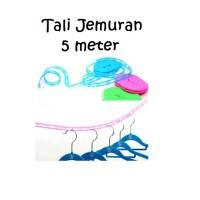 harga Tali Jemuran 5 meter Hanger Gantungan Baju Clothes Line 5 meter jumper Tokopedia.com