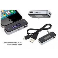 Wireless FM Transmitter Dengan LCD Display Untuk Iphone Ipad Android
