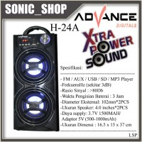 Speaker Portable Advance H (Hitam) BASS