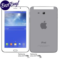 Garskin/skin Samsung Galaxy Tab 3v/ 3 Lite - Ipad/ Iphone Grey Motif