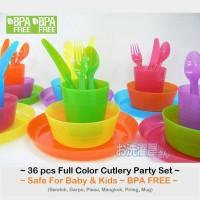 Jual 36pcs Cutlery IKEA Kalas BPA Free Paket Alat Makan Pesta Bayi Anak Murah