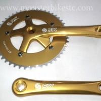 Crankset S1X 48T 165mm GOLD