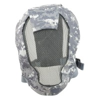 TMC Fencing Metal Mesh Full Face Airsoft Mask - ACU