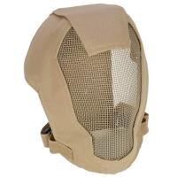 TMC Fencing Metal Mesh Full Face Airsoft Mask - TAN