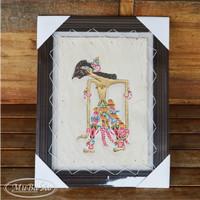harga Lukisan Wayang Abimanyu Ukuran 35cm X 45cm Kulit Kambing Asli Tokopedia.com