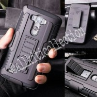 Lg G3 - Future Armor Hardcase With Belt Clip Holster Stand