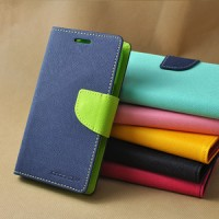 Leather Case Softshell Mercury Goospery Fd 2 Tone Sony Xperia M4 Aqua
