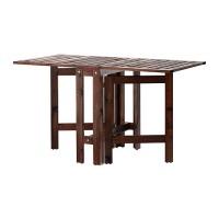 IKEA APPLARO Meja Lipat, Luar Ruang / Taman / Outdoor, Cokelat