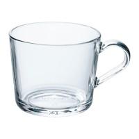 IKEA 365+ Cangkir / Mug / Gelas, 36 cl, Kaca Bening, Tempered Glass