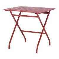 IKEA MALARO Meja Lipat Luar Ruang (Outdoor) Taman, Merah