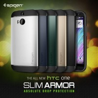 CASING SPIGEN SGP SLIM ARMOR HTC ONE M8 CASE AKSESORIS
