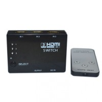 3 Port 1080P HDMI Splitter HDMI Switch dengan Remote Control