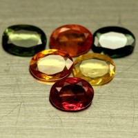 NATURAL HEATED 12 PCS FANCY COLOR SONGEA SAPPHIRE OVAL 8.35 CT