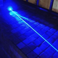 Blue Laser Pointer Lazer Sinar Biru Bisa Bakar + Kacamata dan Koper