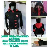 jaket ninja bola as roma / romanisti redblack harakiri hoodie nike