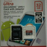 Sandisk Ultra microSD HC 32GB Class 10 up to 80MB/s | micro SD 32 GB