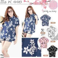 Butik Baju Ukuran Besar Online Flowery Shirt