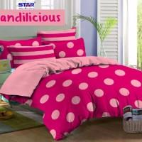 Sprei STAR Candilicious Pink (180X200X20)