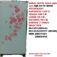 Kulkas Merek Sanyo / Haier Aqua Seri AQR D 179 MOTIF