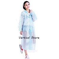 Jas Hujan Trendy Transparan Polkadot Heart Dress