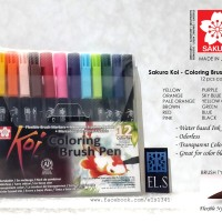 Sakura Koi Coloring Brush Pen - 12 Color Set