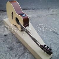 Gitar Lakewood custom natural lc akustik elektrik listrik