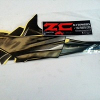 Striping Stiker Decal Body Yamaha Vixion Old 2012 Hitam Gold