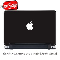 [Premium] Garskin/Skin Laptop 10-17 Inch - Macebook Air/Pro Black