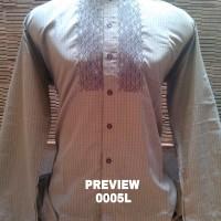 Baju Pria Muslim, Koko Preview Itang Yunasz Lengan panjang abu2 size