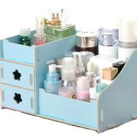 Jual SMART Candy Colored Wooden DIY Organizer - Biru Murah
