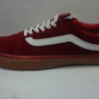 sepatu murah vans oldscool grade ori red sol gum + box