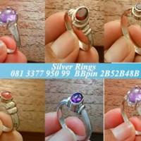 cincin perak bali 925 permata akik untuk perhiasan wanita
