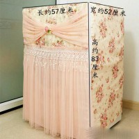 Peach Rose Lace Washing Machine Cover - A