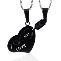 """Kalung Couple Stainless Steel """" Arrow to my heart """""""