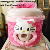 Sarung Rice Cooker Hello Kitty untuk Rice Cooker 1.8 Liter