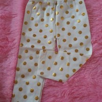 leging legging bayi size 1 polkadot gold