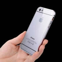 Hybrid Case : Aluminium Metal Bumper Frame + Back Case for iPhone 4 4S