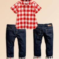 Baju Anak - Red Plaid Set (BO-411)